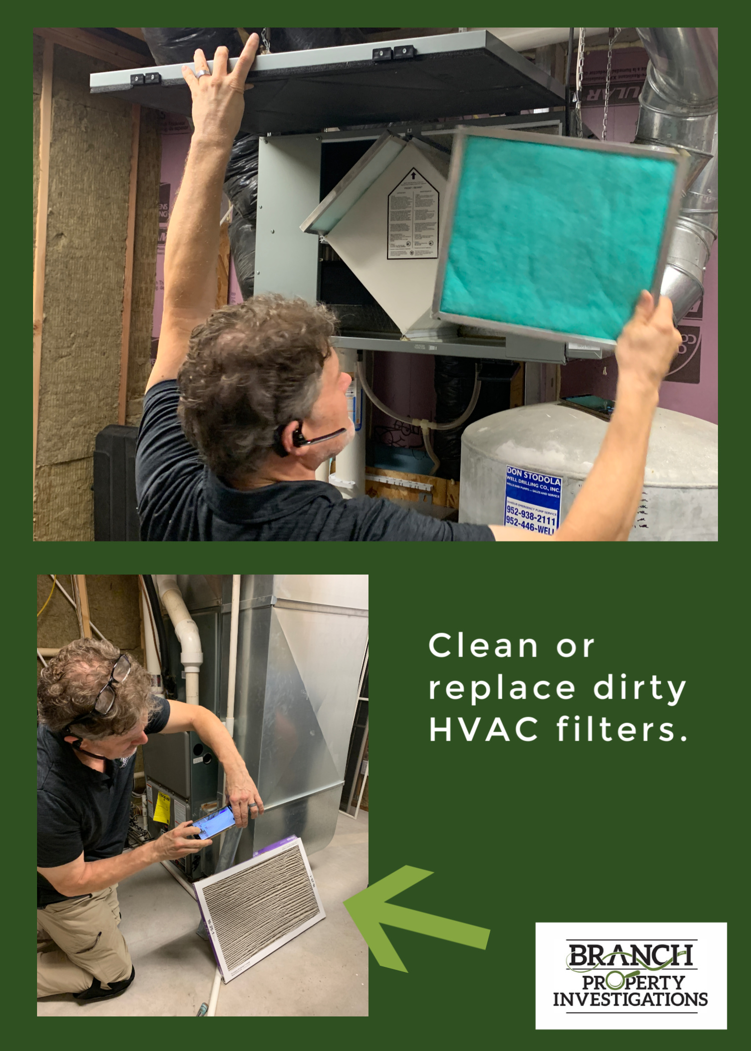 Clean or replace dirty furnace filter before home inspection