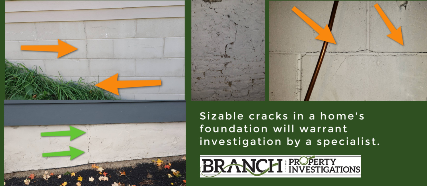 foundation crack home inspection house hunting
