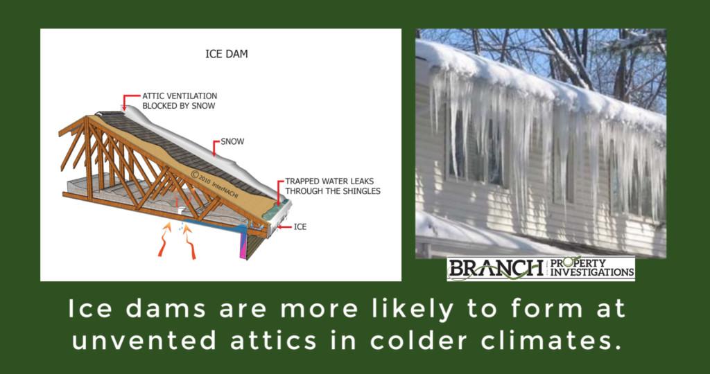 ice dam, attic insulation