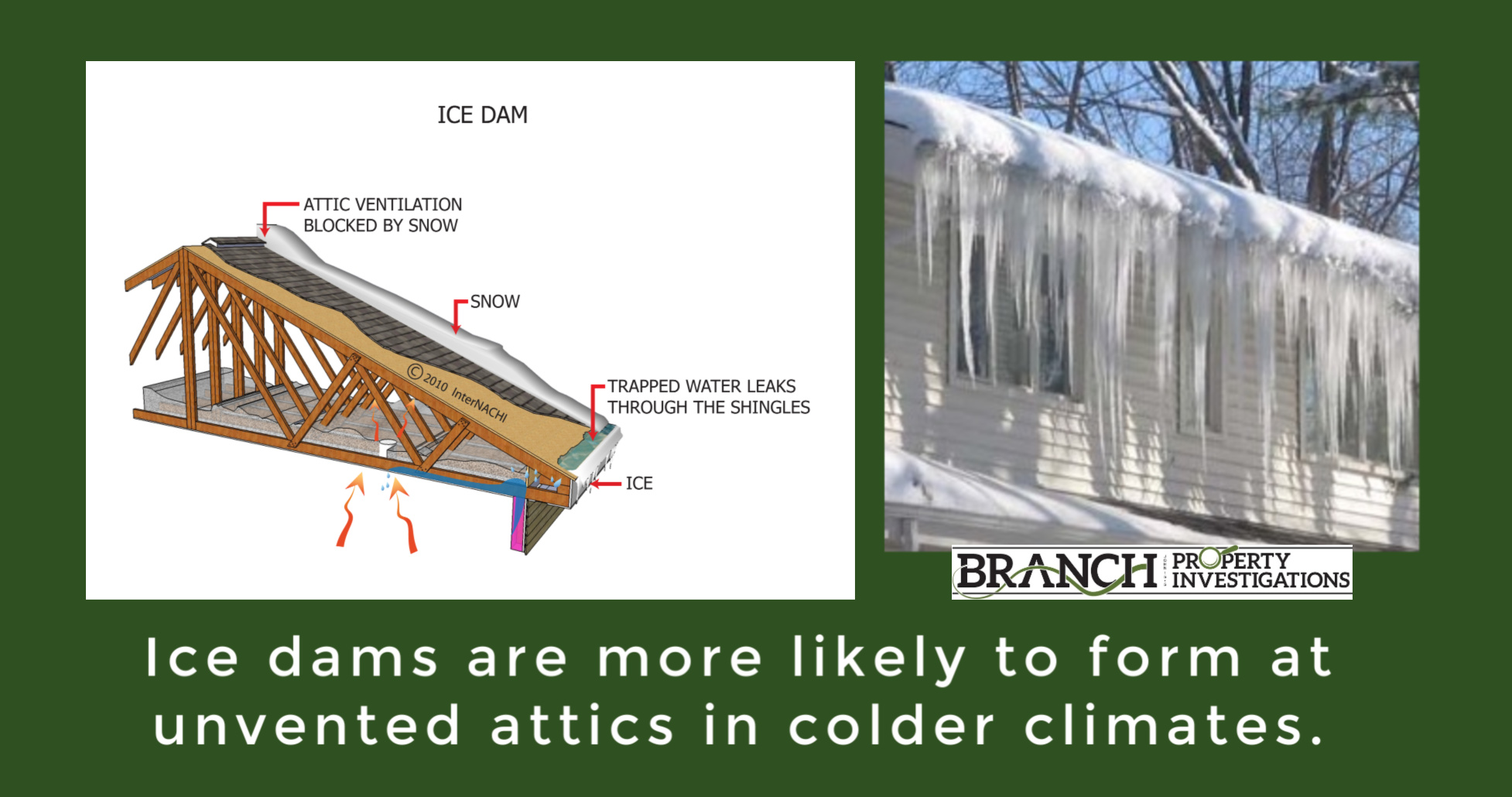 ice dam, attic insulation