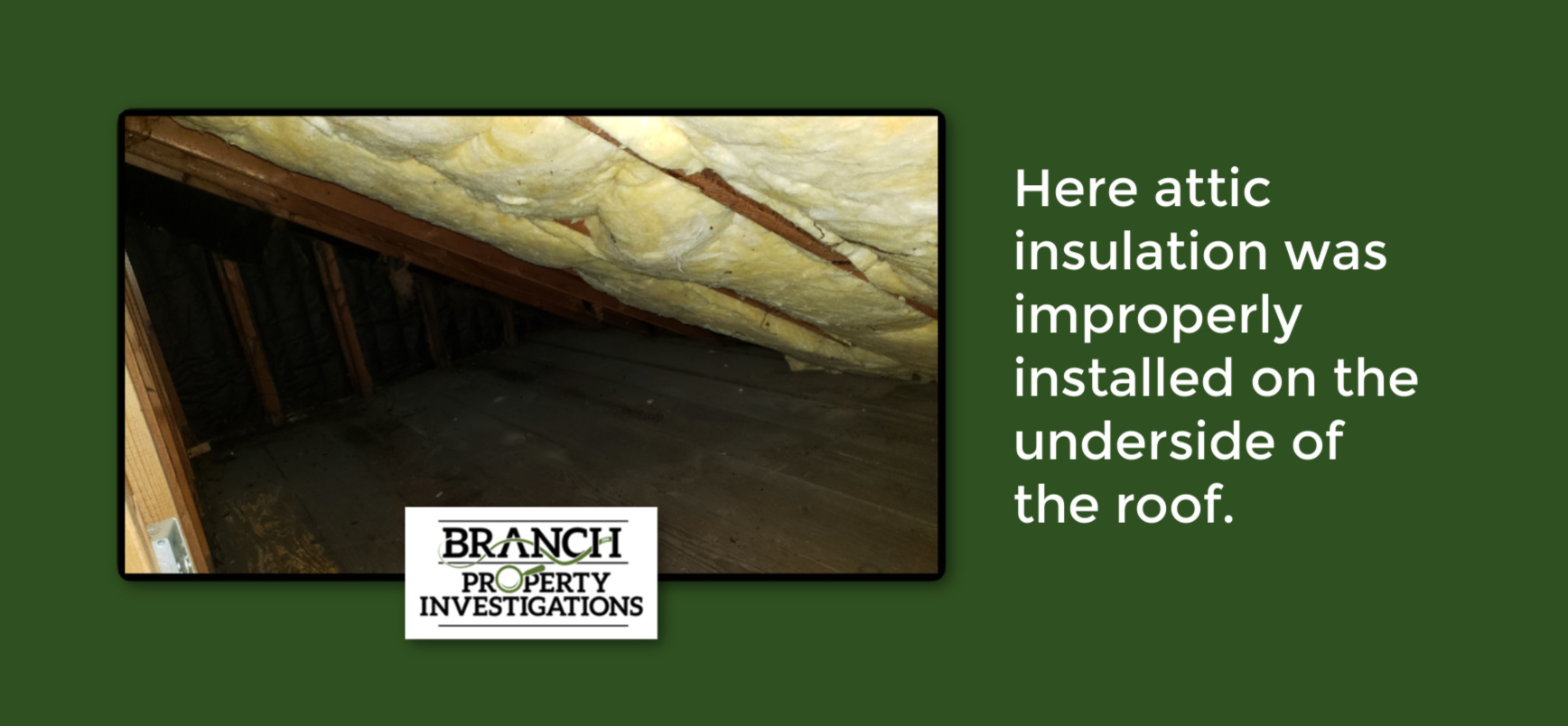attic insulation, improper attic insulation home inspection