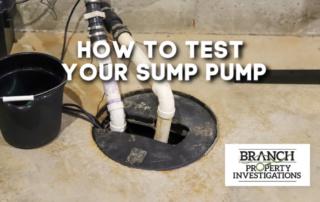 test sump pump