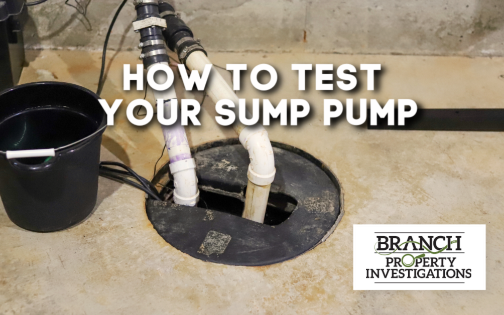 test sump pump