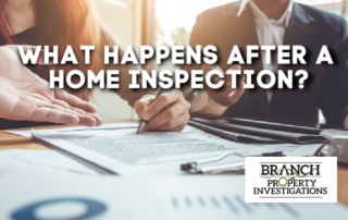 after home inspection